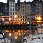 Honfleur Harbor at dusk