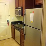 Kitchen w full-sized fridge