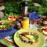 Unser Frühstück in der Cottage