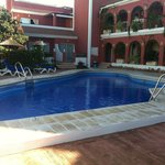 Pool and surrounding rooms