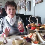 Mother-In-Law enjoying Afternoon Tea