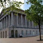 The exterior of Town Hall Birmingham as seen from New Street - credit Mike Gutteridge