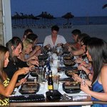 Enjoying the Black Rock Grill on the terrace
