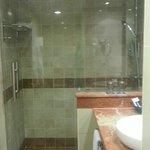 Vue de la douche