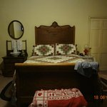 bed in colonial room