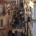 Kapodistriou street behind famous Liston