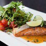 Grillitud lõhe Cafe de Paris kastmega/Grilled salmon with Dafe de Paris sauce