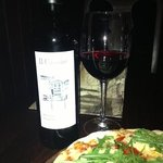 Great pizza and merlot