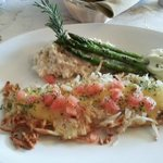 Potato Encrusted White Fish with Risotto was EXCELLENT