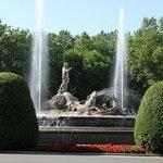 Neptune Fountain near the Prado Museum