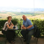 The perfect lunch spot in Pienza