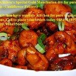 Hajeeras Kitchen Special Veg Starters- Gobi Manchurian