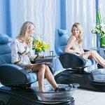 Luxury pedicures at our Spa Aquae Salon.