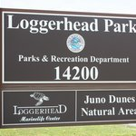 The entrance to the Loggerhead Marinelife Center, so you won't miss it.