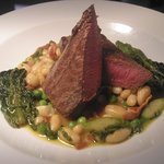 lamb with bean,asparagus and pea cassoulet