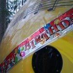 The Birthday banner that was on the door when we arrived