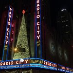 Radio City at night was walking distance from our hotel