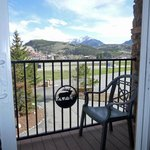 wrought iron patio view