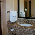 Granite Vanity out side of bathroom