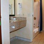 Spacious renovated bathrooms.