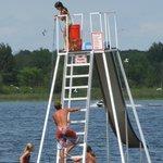 20' Water Slide and Diving Platform