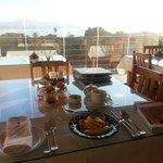 Breakfast overlooking the bay - the way to start the day!