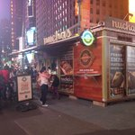 Nuchas stand in Times Square
