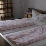 The bed and bedlinen