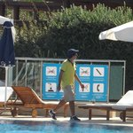 The Pool area bad man! He removes ALL of your belongings if you bed reserve