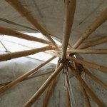 Ceiling of the teepee