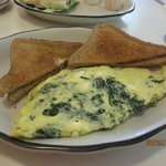 spinach & cheese omelet