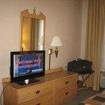 Large screen TV on swivel