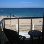 vista sulla spiaggia dall'appartamento per 2 persone fronte oceano