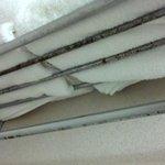 Rusted towel rack.