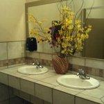 Updated women's restroom is nice