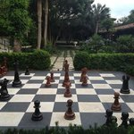 life size chess at The Cloister