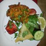 Mixed starter from banquet menu