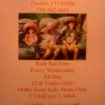 kids eat menu