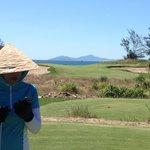 Caddie, South China Sea and hole 16