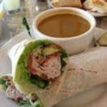 Turkey Wrap with Tomato Soup