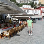Me in front of the Pirate Bar, Hydra Town!