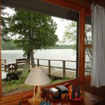 View from the bedroom of cabin #2