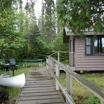 View of picnic area and dock by cabin #2