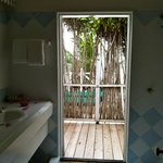 Doors open from our shower to the deck. Loved showering in the warm Caribbean air!