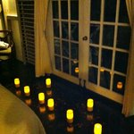 Surprised by the GM of the resort with lit candles when we came back from dinner