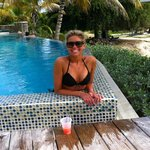 Enjoying my rum punch down by the second pool