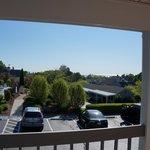 View from upper bldg balcony