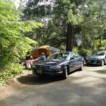 Depth of space was nice - we had 2 cars, 19' tent and plenty of room