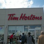 the building of Tim Horton's where we stopped for coffee