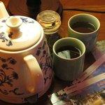 Complimentary flower tea